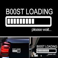 BOOST LOADING Bitte warten Auto Vinyl Aufkleber für JDM Turbo Diesel White