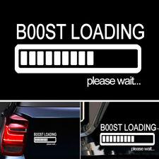 BOOST LOADING Please Wait...White Car Sticker Vinyl Decal for JDM Turbo Diesel