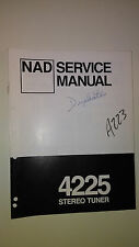 NAD 4225 service manual original repair book stereo receiver radio 18 pages