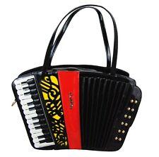 French Accordion shaped novelty ladies handbag / shoulder bag