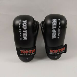 Martial Arts Top Ten semi contact gloves size M very good condition free postage