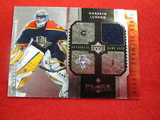 2005 Black Diamond Roberto Luongo   jersey card  Panthers  gu   jsy  # 45 of 100