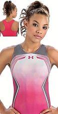 Under Armour GK ELITE Gymnastics LEOTARD Sporty LIPSTICK PINK ArmourFuse Sz: CM
