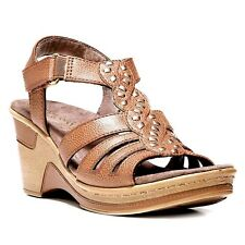NaturalSoul by naturalizer Riddick Women's Wedge Sandals Size 11M