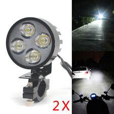 2x 12W Motorrad 4 LED Lampe Licht Zusatzscheinwerfer Fernlicht Scheinwerfer