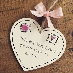 Sister Auntie Gift Best Friend Plaque Birthday Personalised Friend Heart Promote