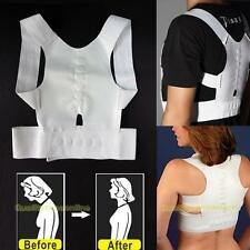 Power Magnetic Adjustable Back Shoulder Support Brace Belt Posture Corrector New