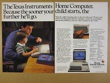 1983 Texas Instruments TI 99/4A Home Computer photo vintage print Ad