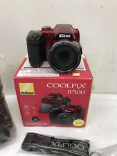 Nikon Coolpix B500 40x Zoom 16MP Digital Camera Only- Red W / Built-in Wi - Fi