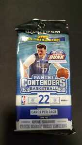20-21 Panini Contenders Basketball Cello Value Fat Pack