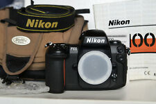 Nikon F100 film camera with manual & case [EXC+]