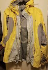 American Eagle AE77 Performance Coat Hooded Jacket Mens Sz XL gray yellow