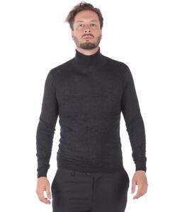 Maglia Maglione Daniele Alessandrini Sweater Lana ITALY Uomo Nero FM63132P3705 1