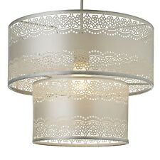 Champagne Pale Gold Design Two Tier Ceiling Light Shade NEW Girls Room VINTAGE