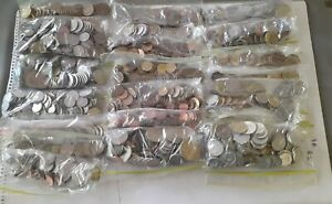 Bulk world coin lot. Roughly Sorted into regions of origin. Approx 6Kg +