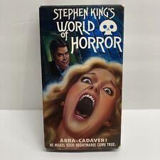 Stephen King world of horror Abra - Cadaver VHS Super Rare 1988 First Print
