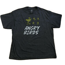 Peanuts Woodstock Angry Birds T-shirt Sz XXL Snoopy Charlie Brown 2XL Gray