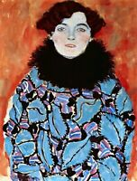 Johanna Staude by Gustav Klimt Giclee Fine Art Print Repro on Canvas