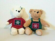 "Hallmark Christmas Mistletoe KISS KISS Bears Magnetic Stuffed Plush 9"""