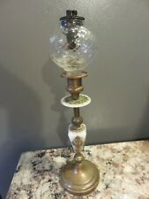 ANTIQUE 19TH CENTURY VICTORIAN EAPG LANTERN WHALE PEG OIL LAMP ORIGINAL DOUBLE