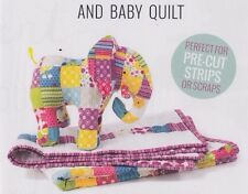 Patchwork Elephant & Baby Quilt - pieced quilt & soft toy PATTERN