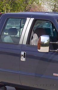 Putco 402600 Door Pillar Post Trim Set Stainless Steel fits 99-07 Ford F-250/350