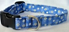 Dog Collar Blue Daisy Daisies Adjustable Pet/Cat CUTE! CUSTOM MADE TO ORDER