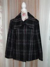 Kaleidoscope Size 12 Ladies Black Mix Wool Blend Coat NEW