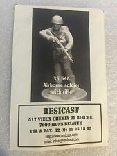 Resicast 1/35th WW2 British 1st Airborne Division Soldier Rifle Resin Figurine