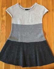 H&M Short Sleeve Colorblock Top Sweater Flares At Waist Size XS Gray