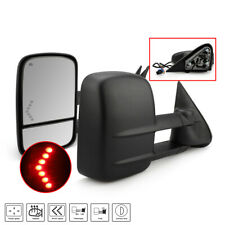 Power Heated LED Signals Tow Mirrors for 03-06 Chevy Silverado 1500 2500 HD 3500