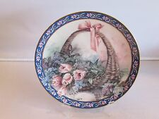 Wl George Lena Liu's Basket Bouquets Tulips And Lilacs Collector Plate - Euc
