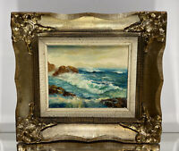 VTG. French Impression Seascape Oil on Canvas Painting