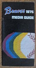 1975 Atlanta Braves Media Guide