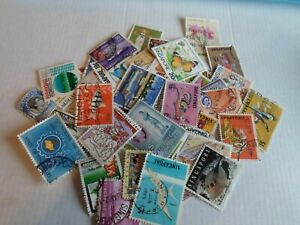 Collection lot 50 different stamps of Singapore