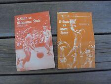 Vintage Kansas State Wildcat Basketball Programs - 1973 - Iowa St. - Oklahoma St