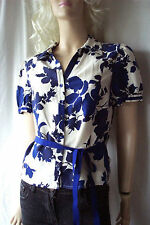 Floral Collared Blouse Size Petite for Women