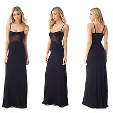 SKY Brand XS PERFECT Black Mesh Cutout Maxi Dress NWT-Extra Small