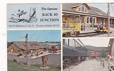 """*Indiana Postcard-""""Famous Back 40 Junction/Restaurant"""" /Decatur, IN. (#500)"""
