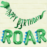 Dinosaur Dino Party Bunting Banner Kids Childrens Birthday Party Decorations