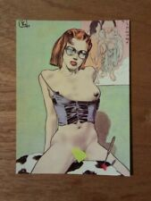 carte postale Liberatore Maria aux lunettes cartolina postcard