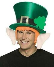 St Patrick's Day Costume Halloween Green Lucky Leprechaun Costume Hat Ears Hair