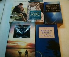 LOT OF 5 NICHOLAS SPARKS BOOKS, DEAR/GUARDIAN/LUCKY ONE/BEND/LAST SONG/ (BIN02)