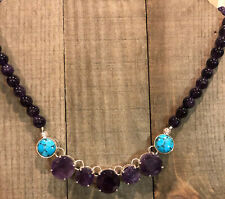 JAY KING Turquoise & Amethyst Necklace, Sterling Silver
