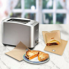 2pcs Safety Sandwich Toaster Toast Bags Non-Stick Reusable Heat-Resistant Hot