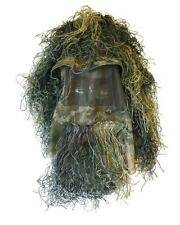 Camo Ghillie Hat Face Veil Cover Headnet Cap Hunting Shooting Mesh Woodland