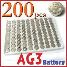 200 pcs AG3 LR41 192 384 LR736 SR41 Alkaline Battery