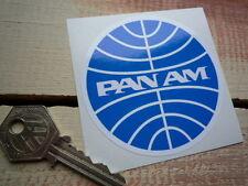 Pan Am aerolínea 75mm Ronda Auto Adhesivo 1960's 70's Airways Moto Scooter De Viaje