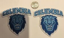 2-Columbia University Columbia Lions Vintage  Iron On Patches 3.5 X 3.5