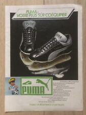 Affiche Publicitaire A4  Puma Chaussure De Foot Argentine 78 Vintage Rare